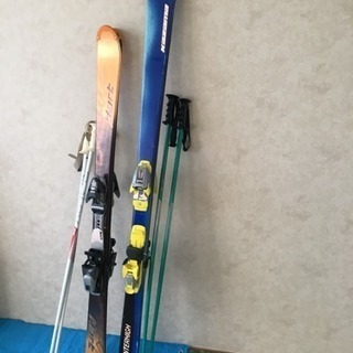 スキー板ストックペア差し上げます。