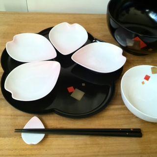 桜のお好きな方に!和風のおしゃれなパーティーセット(5人分)