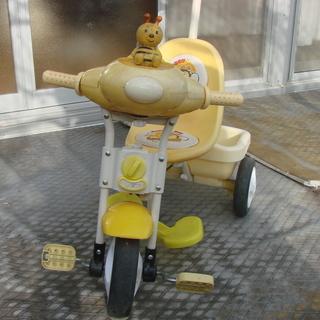 手押し付き三輪車を差し上げます