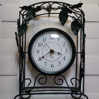 【終了】ヨーロッパ庭園調QUARTZ掛け(置)時計