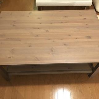 【IKEA イケア】【無垢材】コーヒーテーブルグレーブラウン HE...