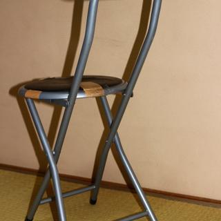 値下げ!!訳あり家具 折りたたみ椅子 破れあります!! 手渡し大歓迎  大阪府 豊中市 から出品!! 張替えベースに!! − 大阪府