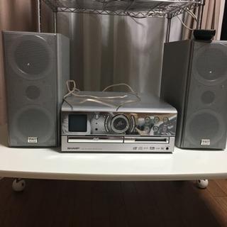 シャープ☆CD、MD、DVDコンボ☆DVD1ビットデジタルシステム