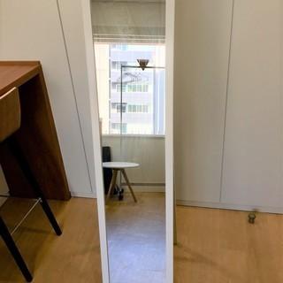 ワケあり 姿見 全身鏡 149×33.5cm スタンド式
