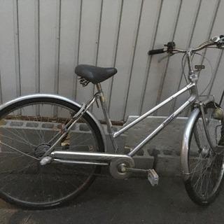 シルバー27インチ自転車