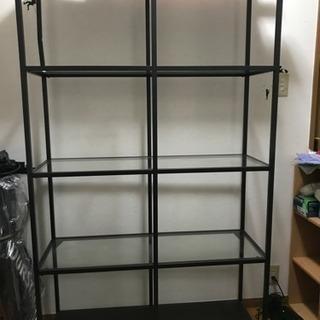 分解済みです IKEA 飾り棚 キャビネット ガラス板 取りに来...
