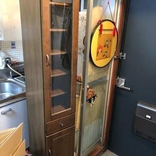 スリーム食器棚 隙間家具 幅30奥40