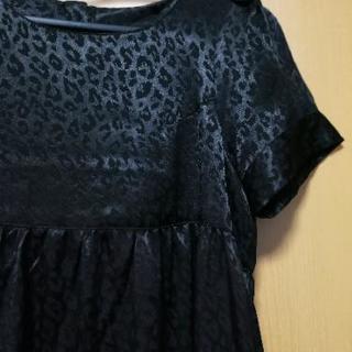 【JEANASIS】黒色のワンピース