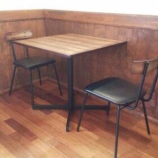 【再販開始】カフェ風 テーブルセット 業務用にも最適!