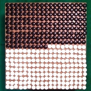 【最終値下げ】囲碁盤(木製、足つき) 碁石 セット