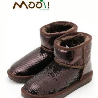 【お値下げ】mooi モーイ 本革ムートンスパンコール  ブーツ