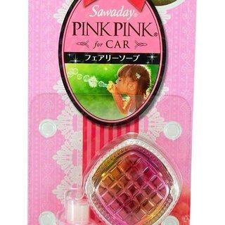 サワデーピンクピンク 消臭芳香剤 クルマ用 本体 フェアリーソープ
