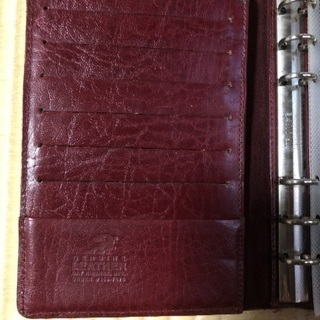 Genuine Leather 6穴リング 手帳カバー