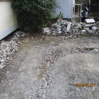 不用品コンクリートガラ、庭石、引取り