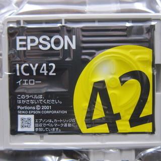 200円! エプソン純正インク ICY42イエロー