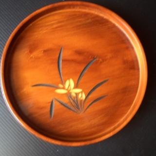 丸形お盆 & 木の器(菓子皿)(未使用品)