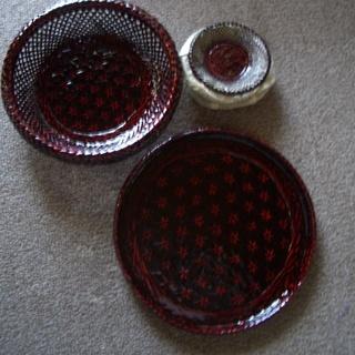 籃胎漆器セット(未使用品)