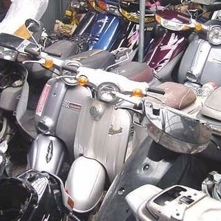 原付きバイク、スクーター。 不動車でも無料引き取り致します。