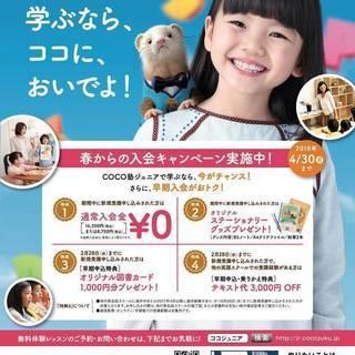 子供英会話COCO塾ジュニア「春からの入会キャンペーン」実施中!