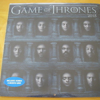破格‼ Game of Thronesの2018年カレンダー 未...