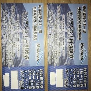 ☃️斑尾高原スキー場 リフト券2枚セット☃️