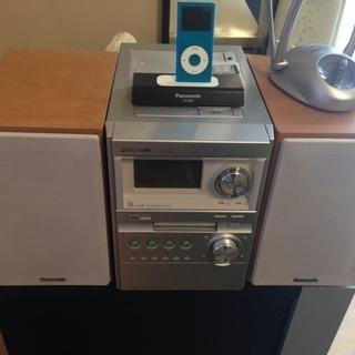 PanasonicコンポPM670SD+iPod4GB