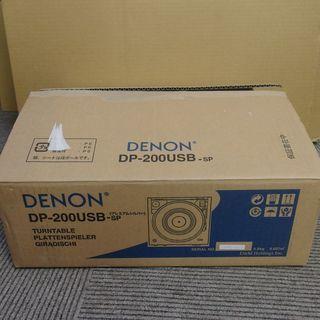 レコードプレイヤー DENON DP-200USB アナログのレ...