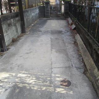 借家の門柱徹去及びスレート交換