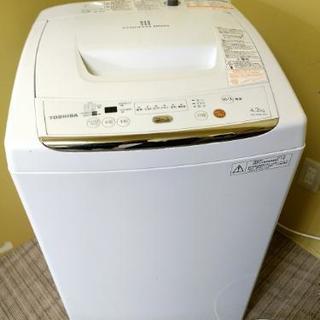 近隣配送無料☆美品【東芝】全自動洗濯機 4.2kg AW-42ML...