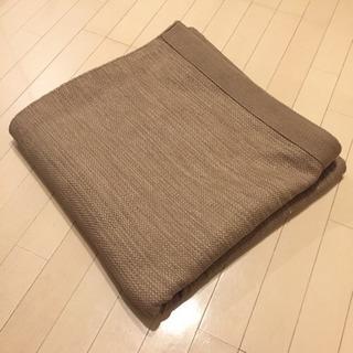 無印良品 オーガニックコットン手織ラグ ベージュ 200×200cmの画像