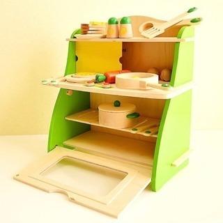 木製 おままごとキッチン