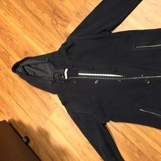 メンズ confirm 黒フード付きジャケット L