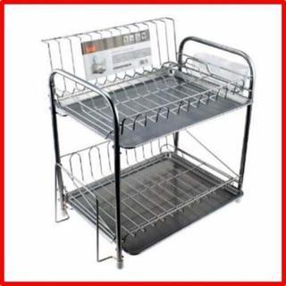 パール金属 食器 水切り かご 2段