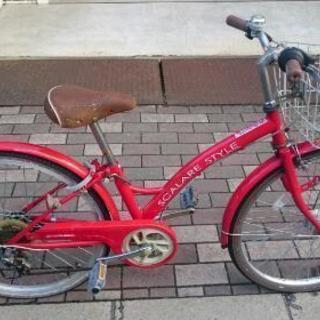 自転車 切り替え5段 24インチ