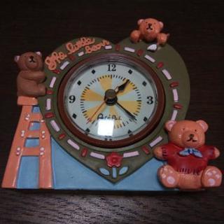 リトルベア目覚し時計 陶器製