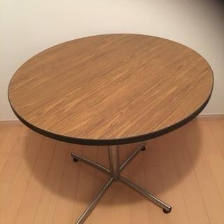 ダイニング テーブル 一本脚 ウッド 木目  ミッドセンチュリー ...