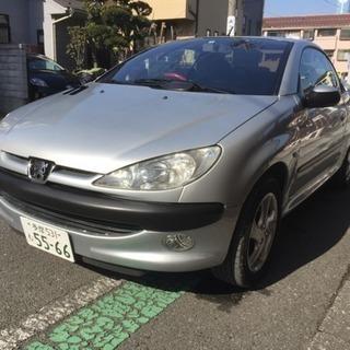 プジョー 206CC オープンカー レザーシート 車検たっぷり平成...