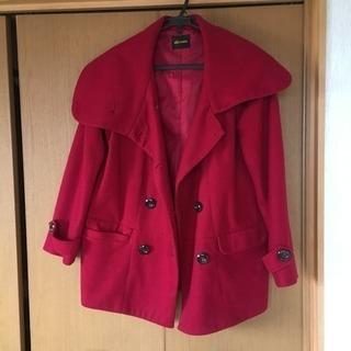 レディース 赤 コート