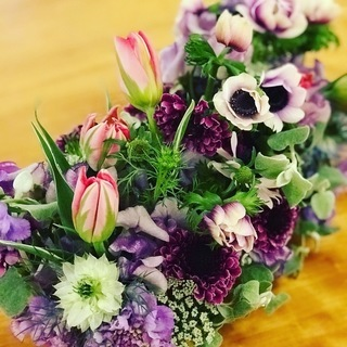 生花アレンジメントレッスン 「春の香り」