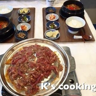 K's cooking プルゴギ、ユッケジャン(韓国家庭料理 1...