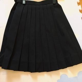 黒 無地プリーツスカート