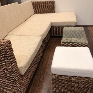 3ヶ月使用♡高級ソファーセット バリ家具