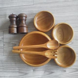 木製 サラダボール ソルト&ペッパーミルセット(ソルト&ペッパー...