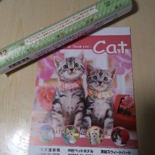 可愛い 猫 犬 カレンダー 2部セット