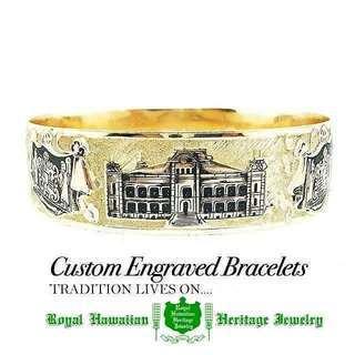 Custom Engraved Bracelets  雪の降った...