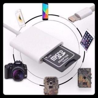 iPhone&Android対応 SDカード カメラリーダー!,