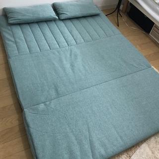 2人掛け・3wayソファ✳︎2人で寝れるベッドにもなります! - 家具