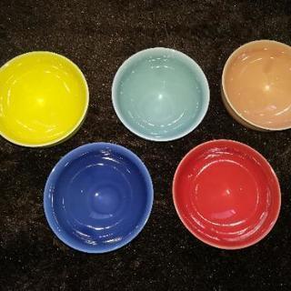 ☆値下げ☆未使用☆IDEEの茶碗(湯呑み)5色セット☆譲ります☆