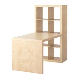 IKEA テーブル+本棚