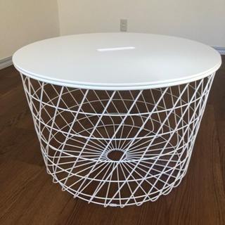IKEA デザインローテーブル(収納付き) - 家具